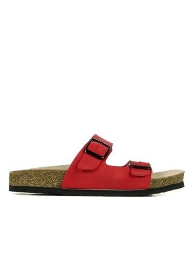 Hammer Jack Joe Hakiki Deri Kadın Terlik / Sandalet 420 902.002-Z Kırmızı